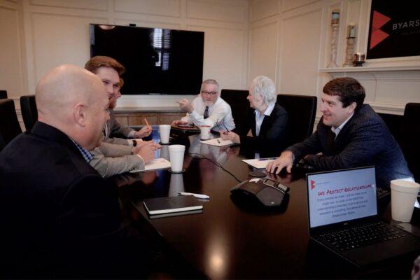 Insurance agency meeting